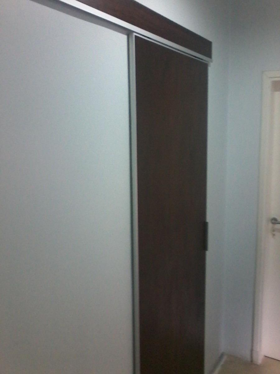 puerta corrediza en madera con riel ducasse premium
