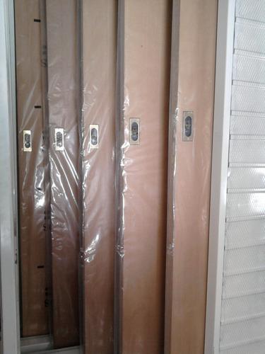 puerta corrediza ench. en cedro 0.70 tabique 10 m.chapa 18