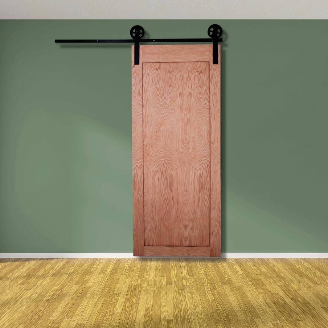 Puerta corrediza madera ingenieria de encino 100x210 for Modelos de puertas corredizas de madera