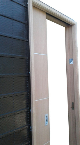 puerta corrediza marco madera cedro hoja cedro 70x200x10