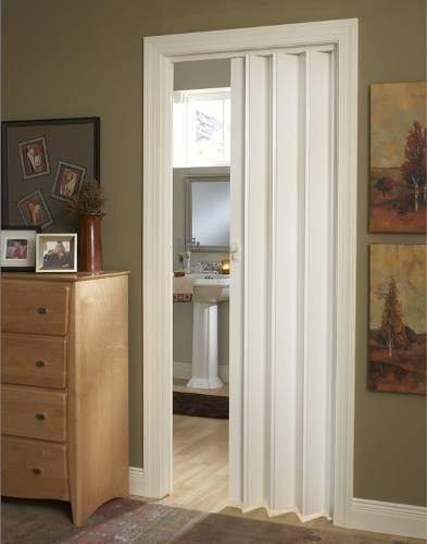 puerta corrediza plegable pvc 90x210 con manilla casa
