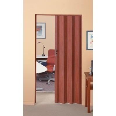 Puerta corrediza plegable pvc 90x210 con manilla casa - Como colocar una puerta corrediza ...