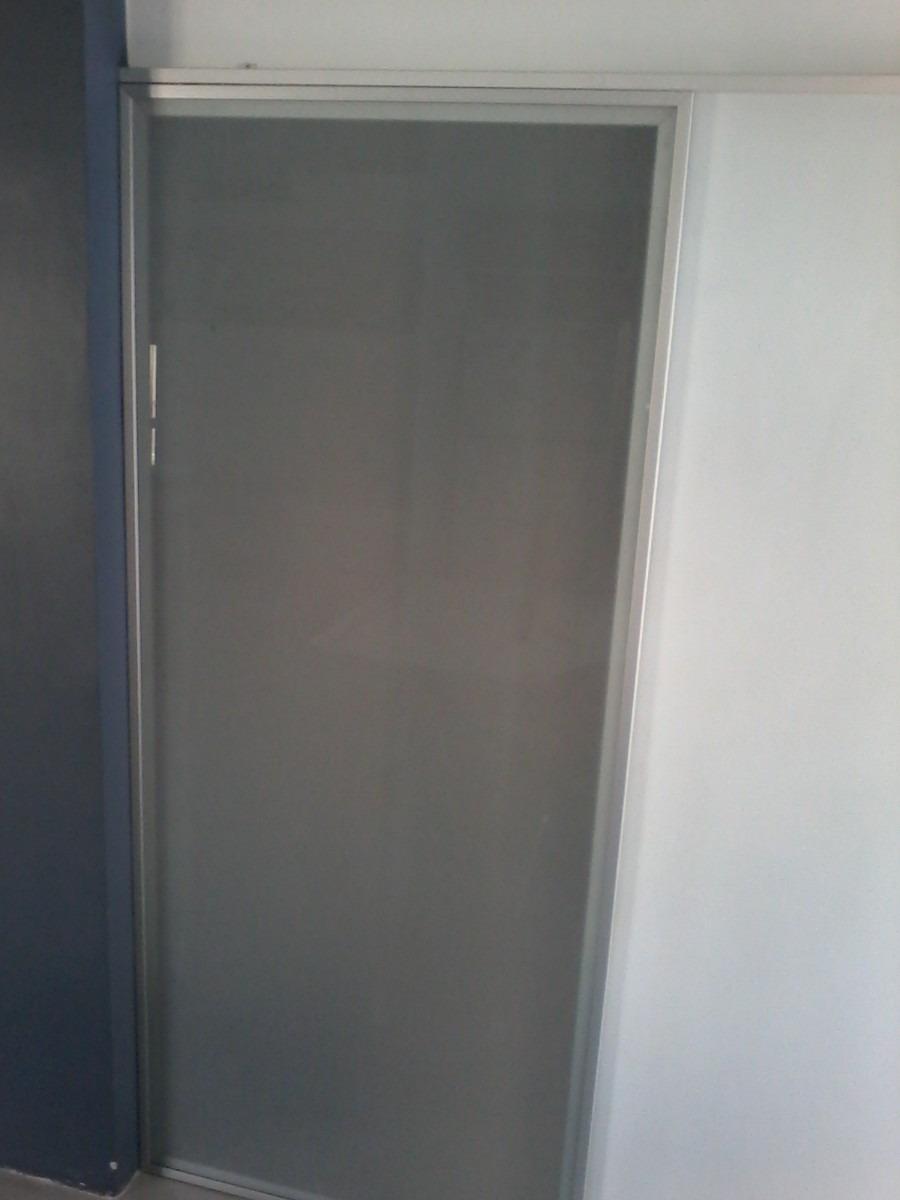 Puerta Corrediza Vidrio Con Marco Aluminio Alta Gama Moderna ...