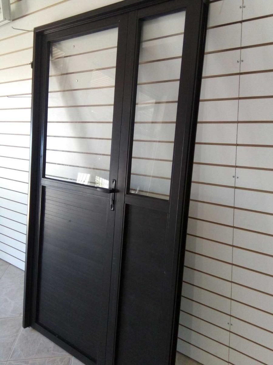 Puerta de aluminio en mercado libre for Puertas de aluminio medidas estandar