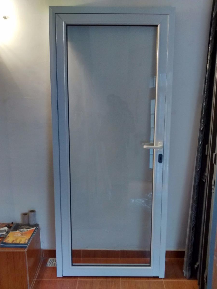 Puerta De Aluminio Bco. Vidrio Entero Oferta!!!!!!!!! - $ 2.280,00 ...