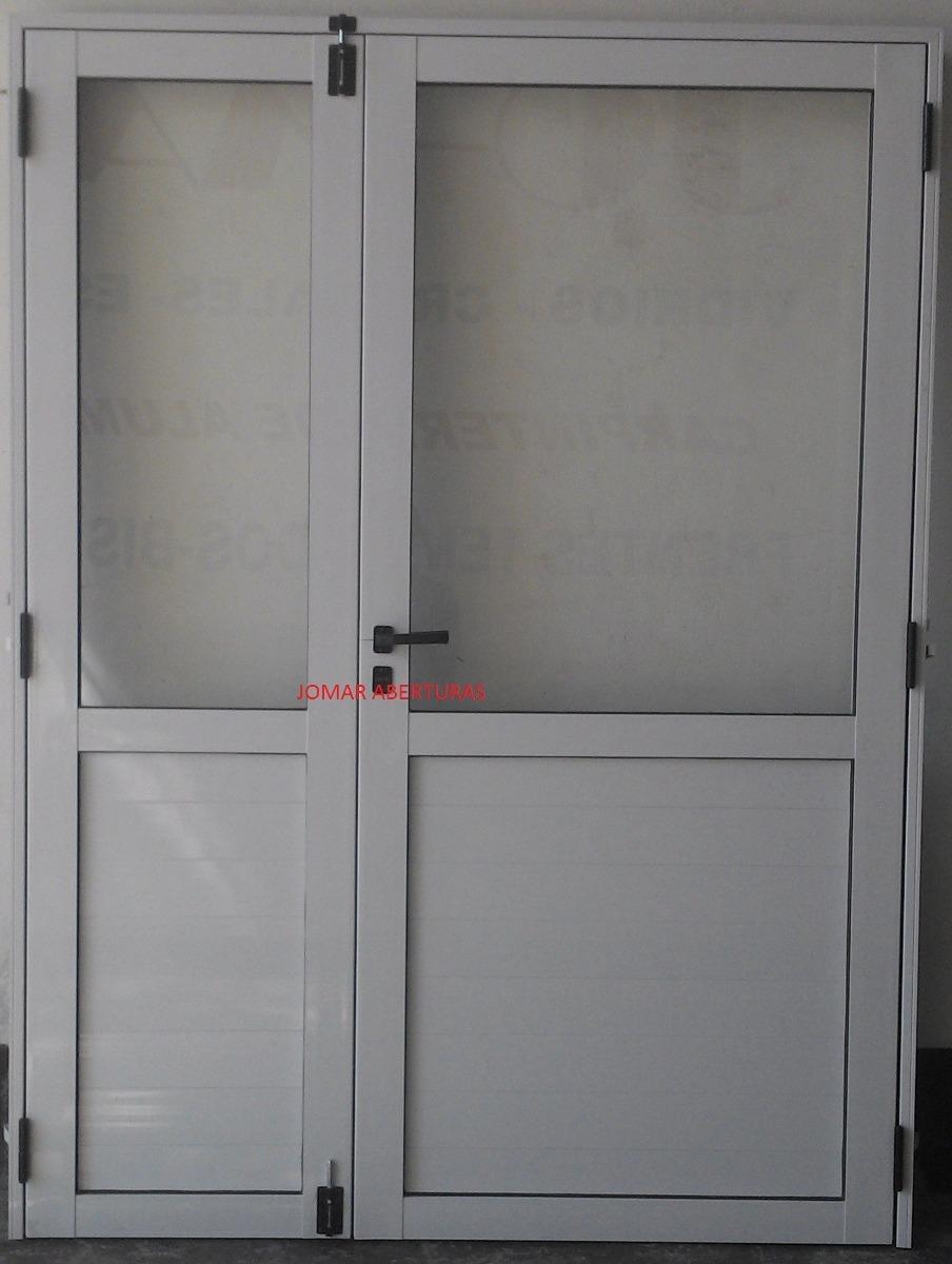 Puerta De Aluminio Doble 1,50 X 2,00 1/2 Vidrio Entero - $ 8.900,00 ...
