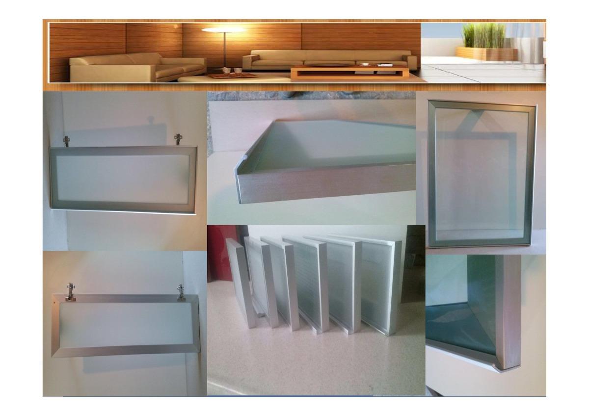 Puerta de aluminio para cocina x en - Puertas de cocina de cristal ...