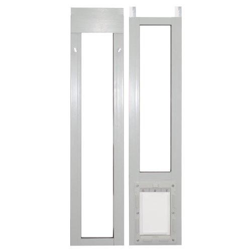 Puerta de aluminio para perro ideal pet color blanco grande 3 en mercado libre - Puerta vaiven para perros ...