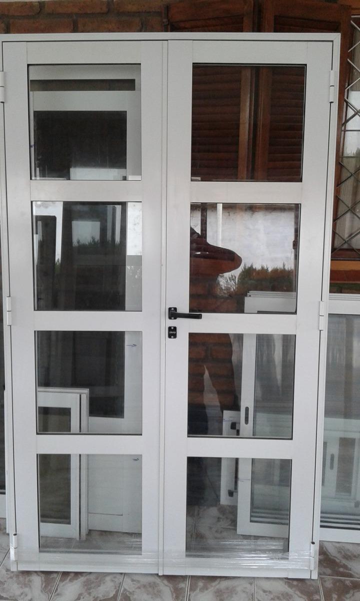 Puerta De Aluminio Vidrio Repartido Horizontal Dos Hojas - $ 7.700 ...