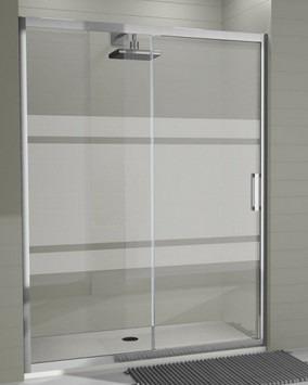 puerta de baño en vidrio templado