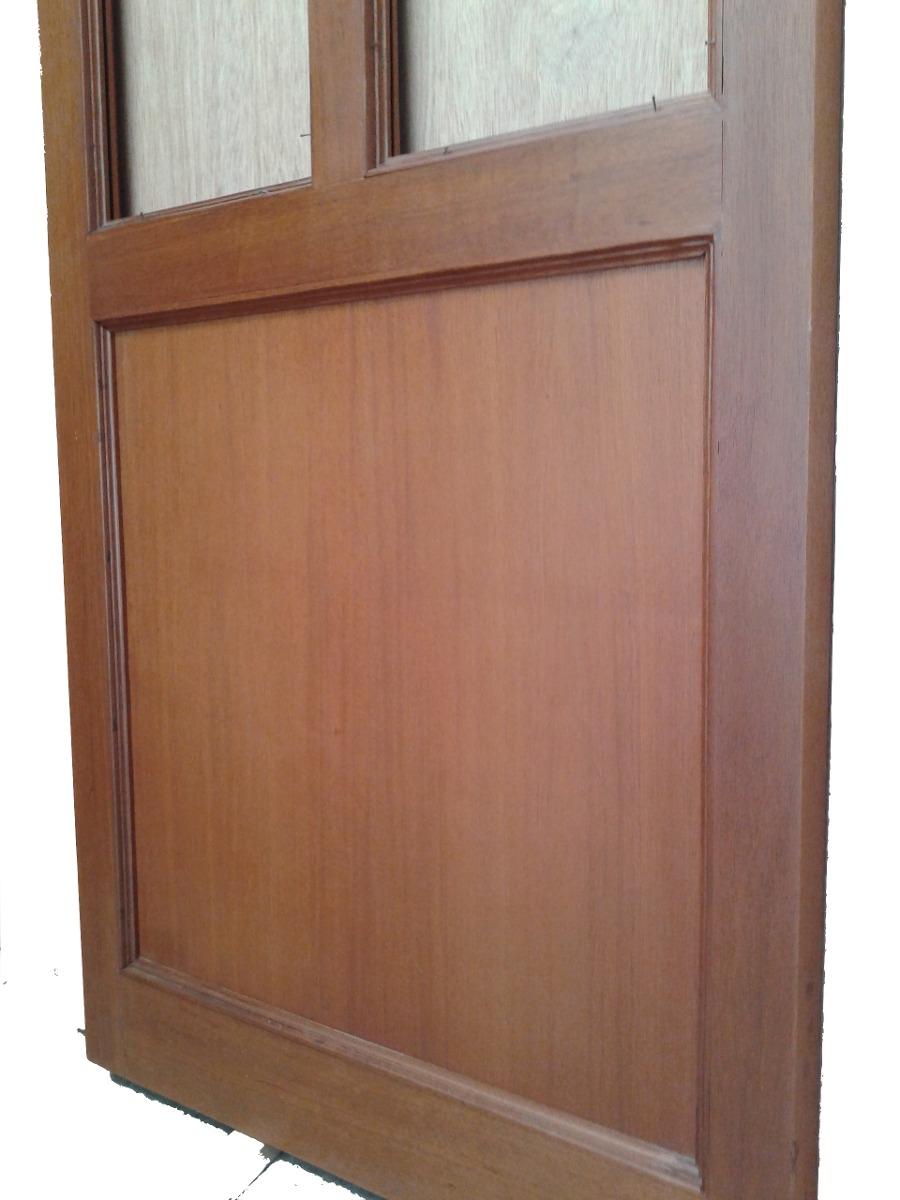 Puerta de caoba barnizada 3 en mercado libre for Cuanto sale una puerta