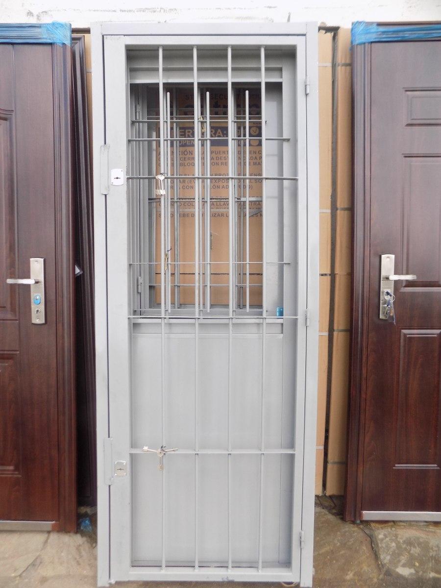 Puerta de chapa con puerta reja incorporada varilla de 12 - Puertas de chapa ...