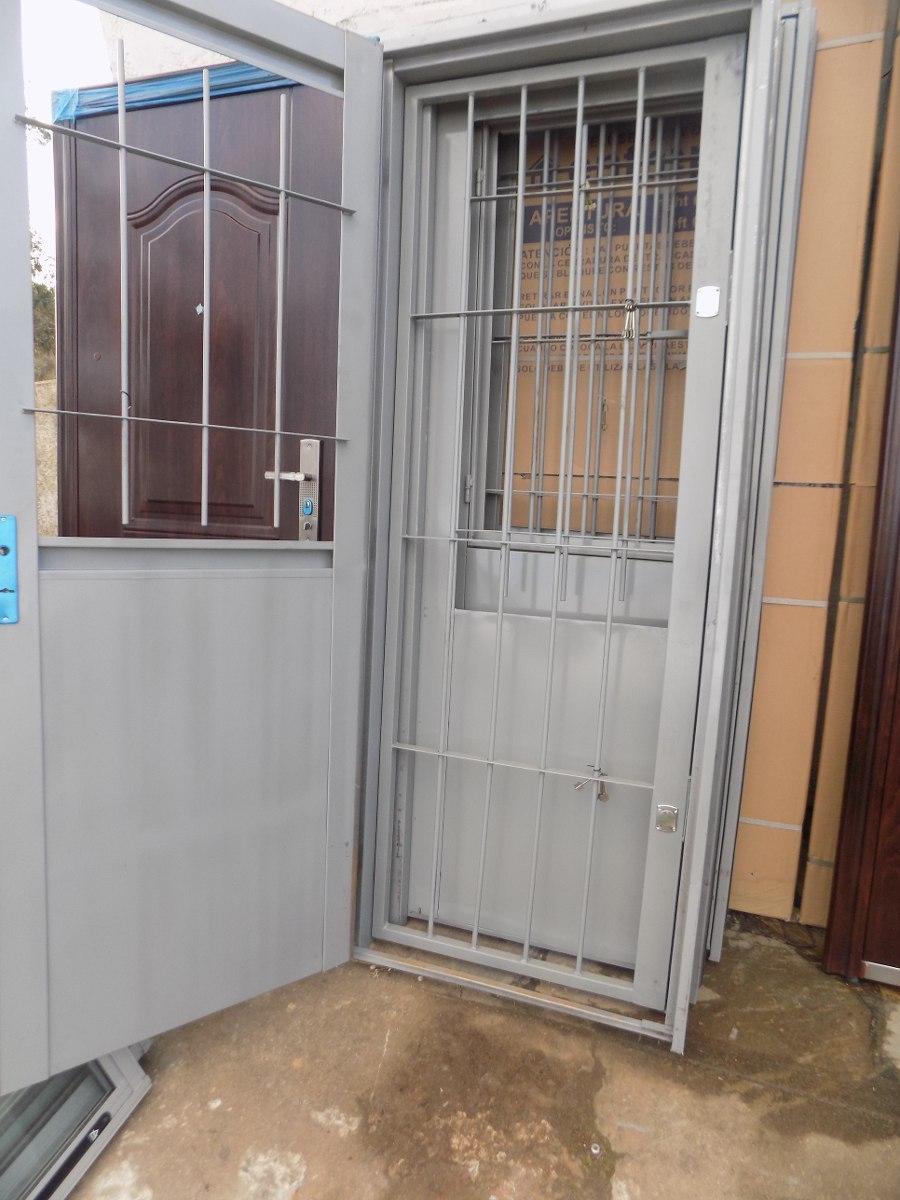 Puerta de chapa con puerta reja incorporada varilla de 12 - Puerta de chapa ...