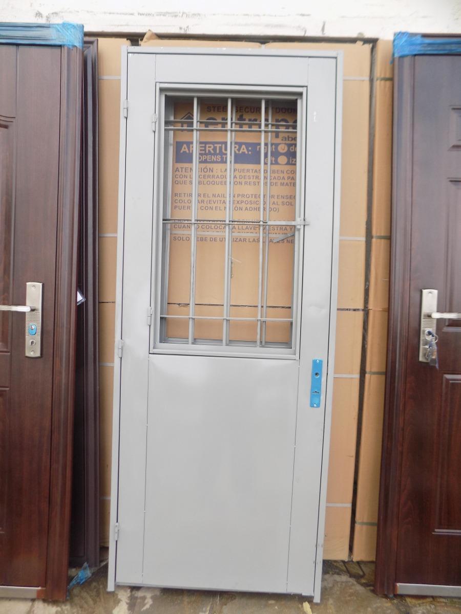 Puerta de chapa doble con postigo pinar aberturas 2 - Puertas de chapa galvanizada precios ...