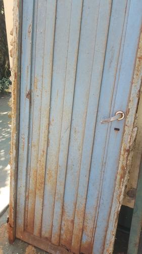 puerta de chapa reforzada con marco 0.60 x 2m