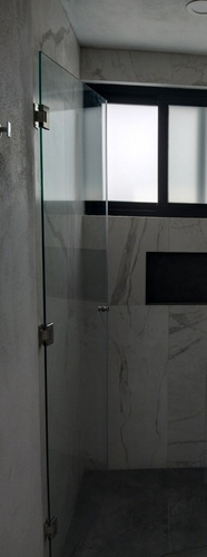 puerta de cristal templado para baño u oficina.