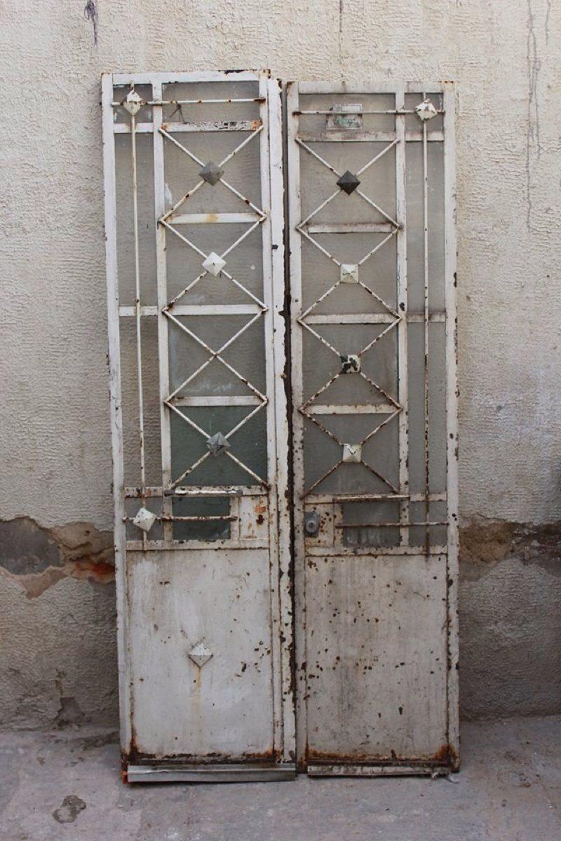Puerta de dos hojas de herrer a 97 x 200 en - Puertas de dos hojas ...