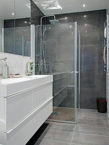 puerta de ducha vidrio templado