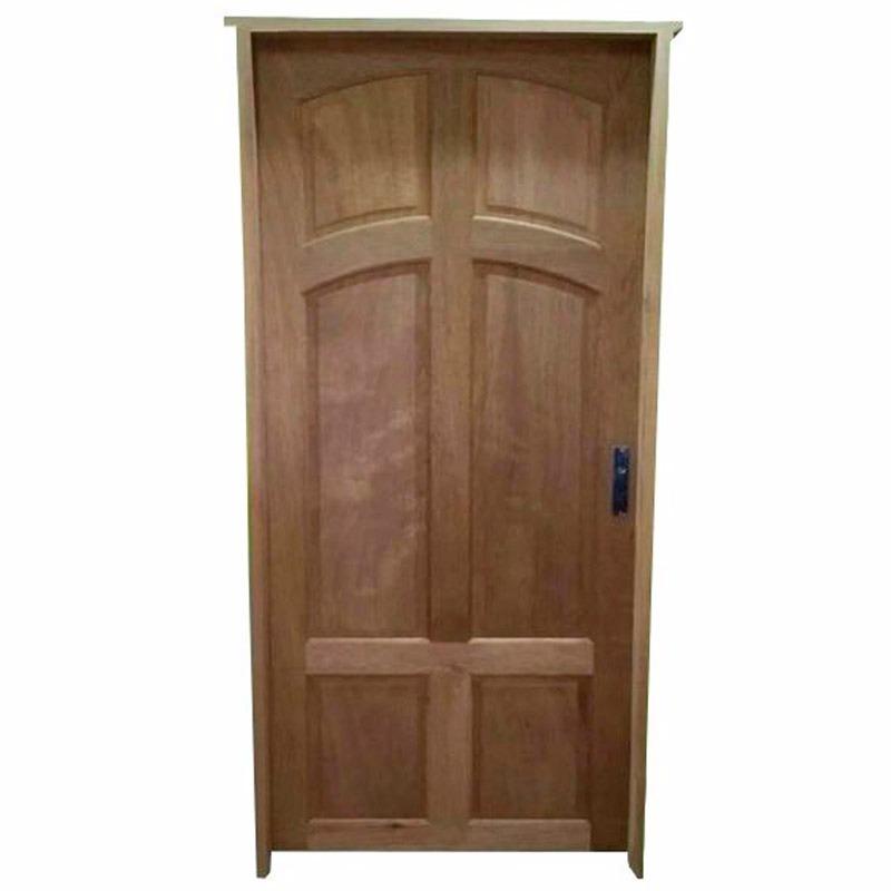 Puerta de exterior en madera excelente calidad y for Puertas economicas para exterior
