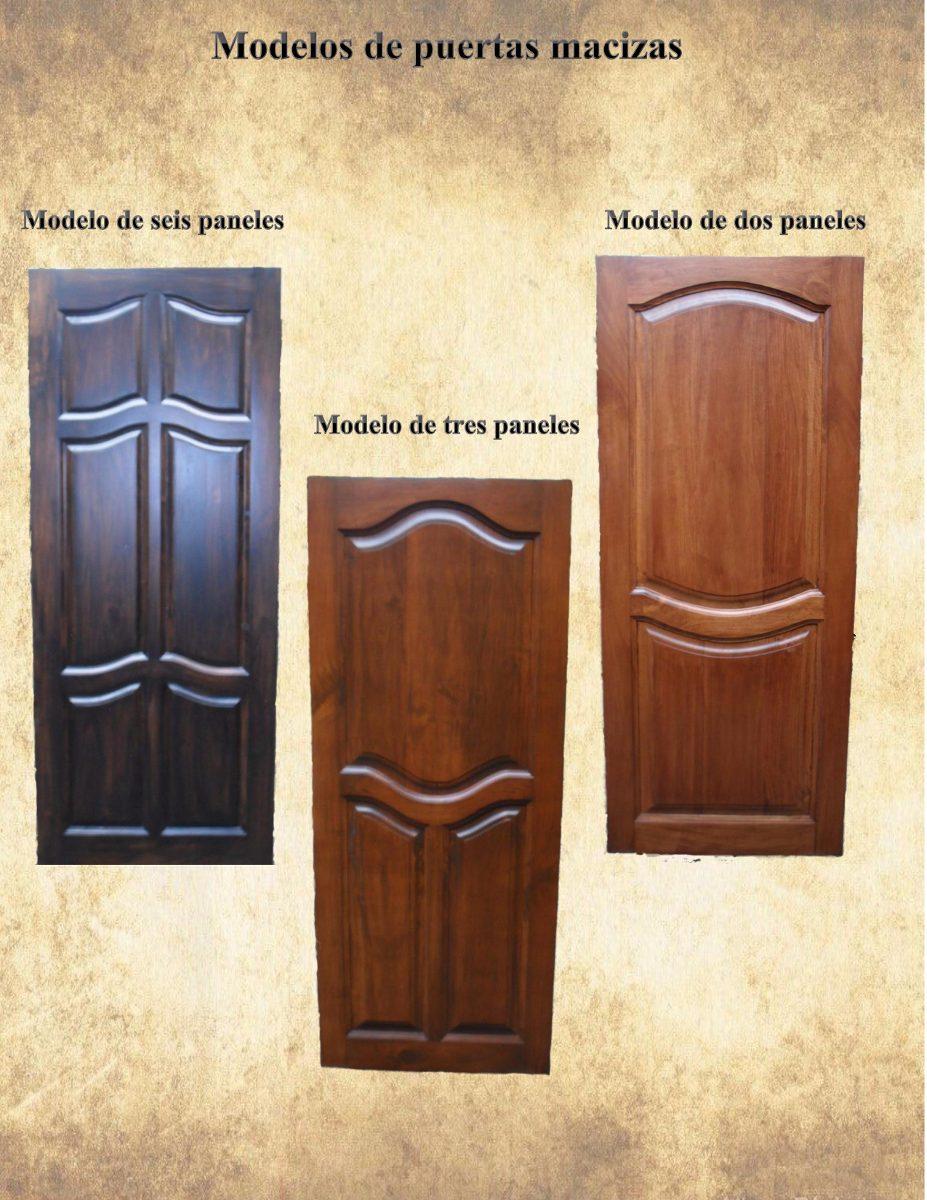 Puerta de madera maciza economica bs en for Precio puerta madera maciza