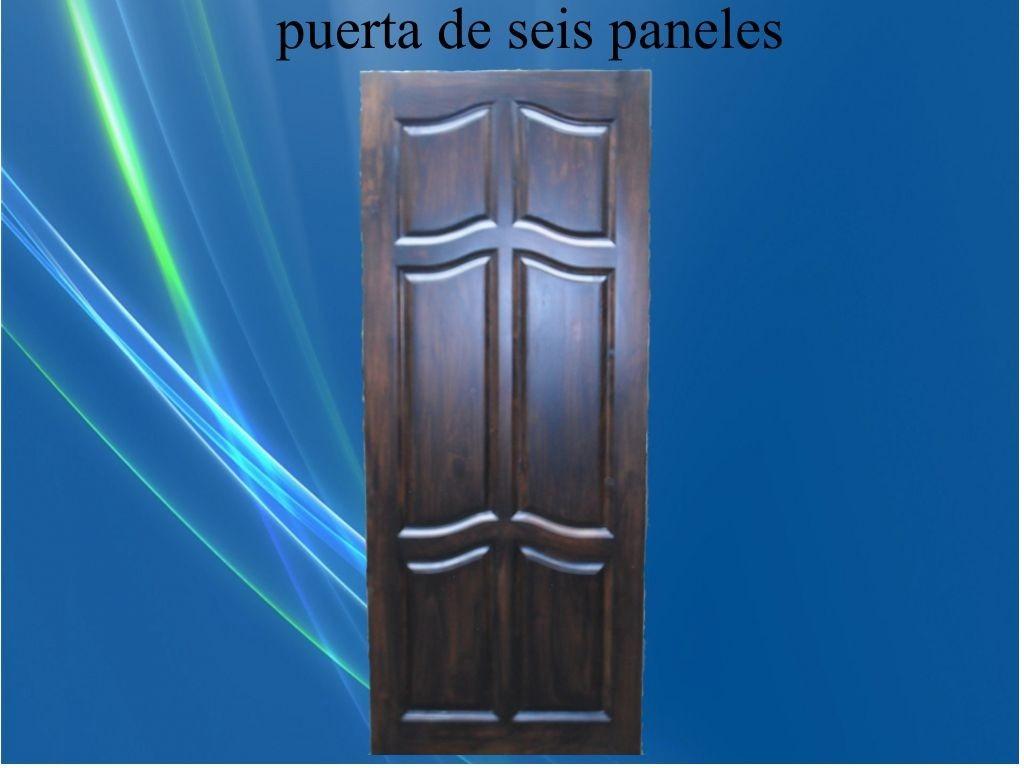 Puerta de madera maciza economica bs en for Puertas de madera economicas