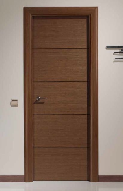 Puerta de madera minimalista sobre dise o 4 en for Puertas rusticas de madera interior