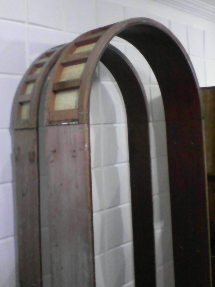 Puerta De Madera Tipo Arco Con Marco + 2 Arcos Decorativos - Bs ...