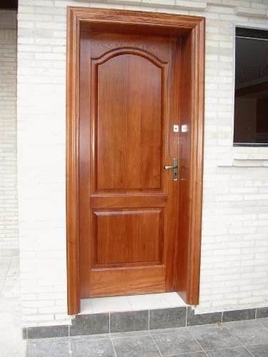 Puerta de madera y contraplacada con instalacion s 230 for Donde venden puertas