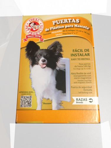 Puerta de plastico para perro chica ideal pet en mercado libre - Puerta vaiven para perros ...