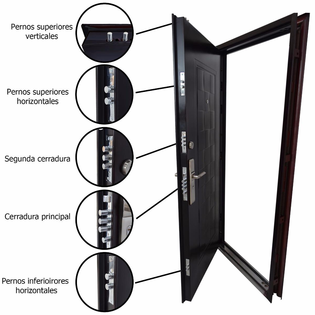 Puerta de seguridad 100 de acero 6 en mercado - Precio puerta seguridad ...