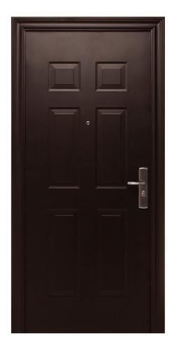 puerta de seguridad 6 panel s1 apertura izq acero 100% ch