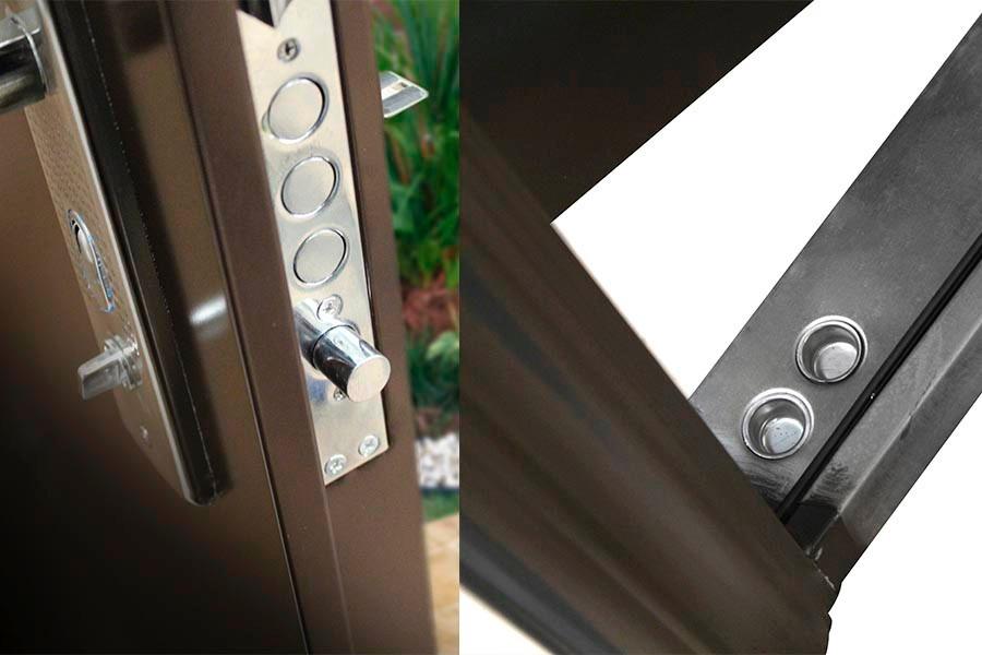 Puerta de seguridad acero casa departamento oficina 7 for Puertas para oficinas precios
