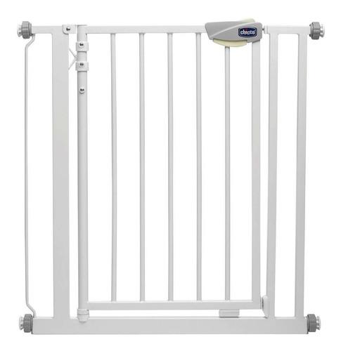 puerta de seguridad metalica esmaltada para niños chicco