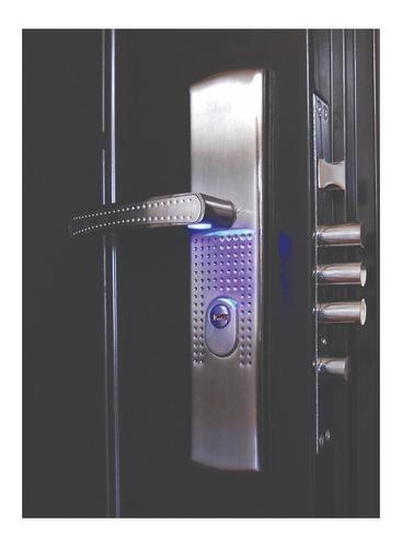 puerta de seguridad xe 3l plus c/fijo aper izq acero 100% ch
