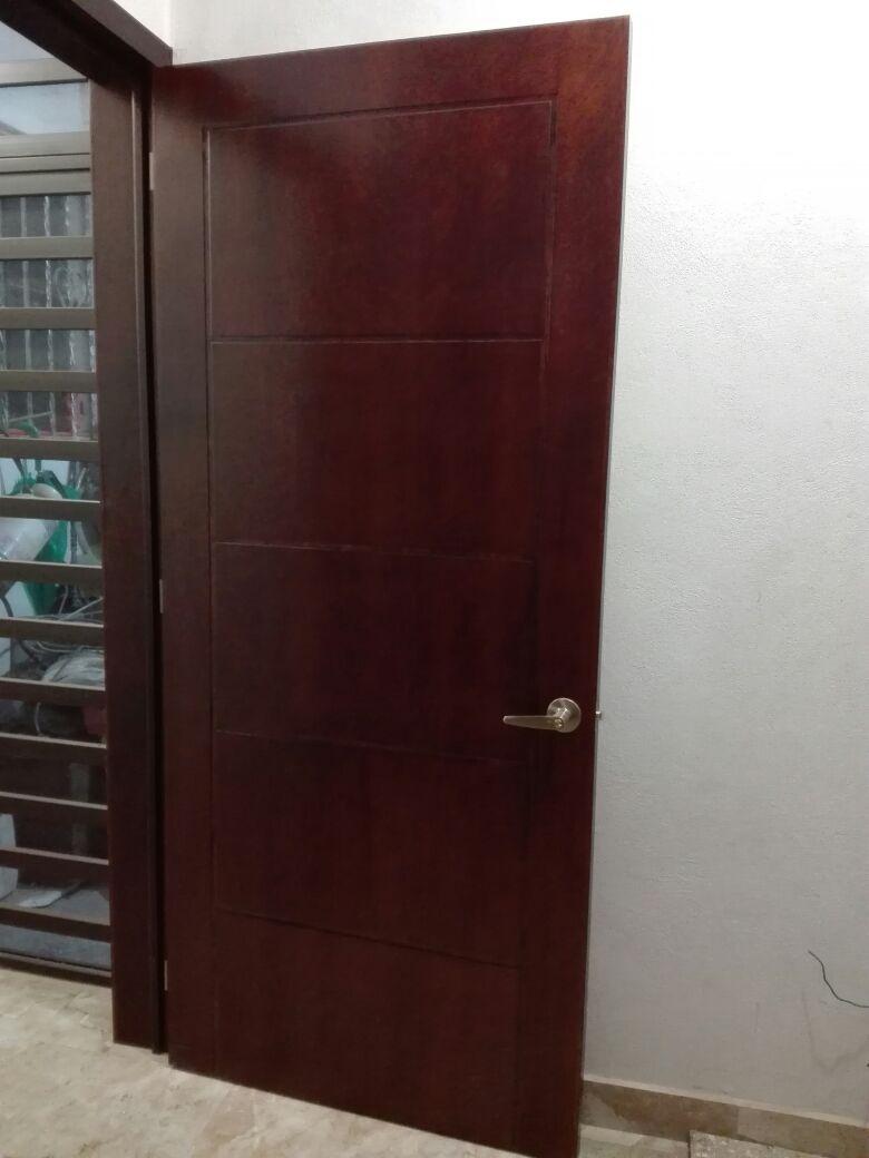 puerta de tambor en madera cedro para recamara ba o