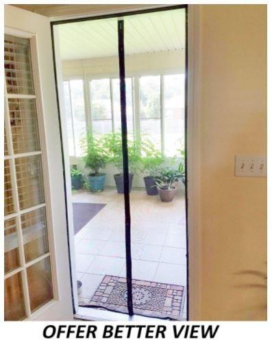 puerta de tela mosquitera malla magnetica 91 x 208 cm On malla mosquitera magnetica
