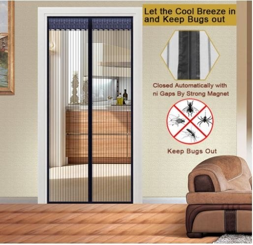 puerta de tela mosquitera malla magnetica 99 x 208 cm On malla mosquitera magnetica