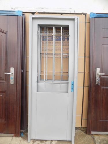 puerta doble chapa de exterior pinar aberturas