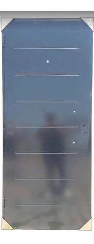 puerta doble chapa inyectada con aplique y barral