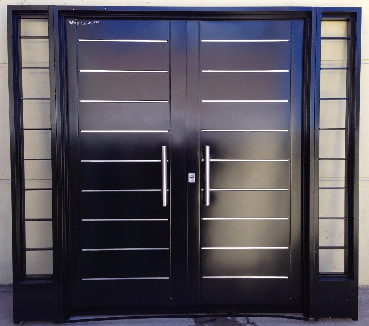Puerta doble hoja exterior interesting puerta de cedro for Puerta doble madera