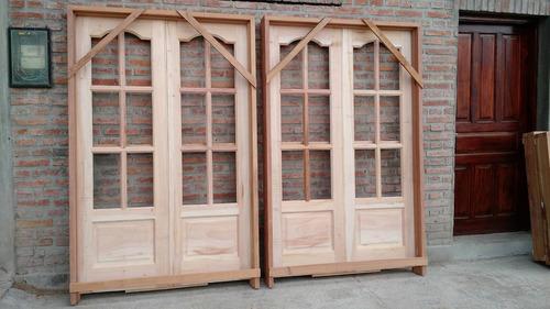 puerta doble hoja de madera