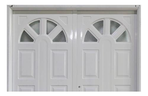 puerta doble sol chapa inyectada reforzada 160x2.00