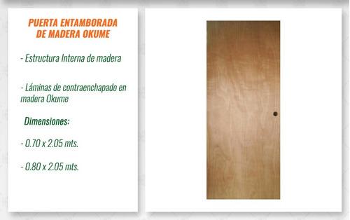 puerta entamborada de madera okume