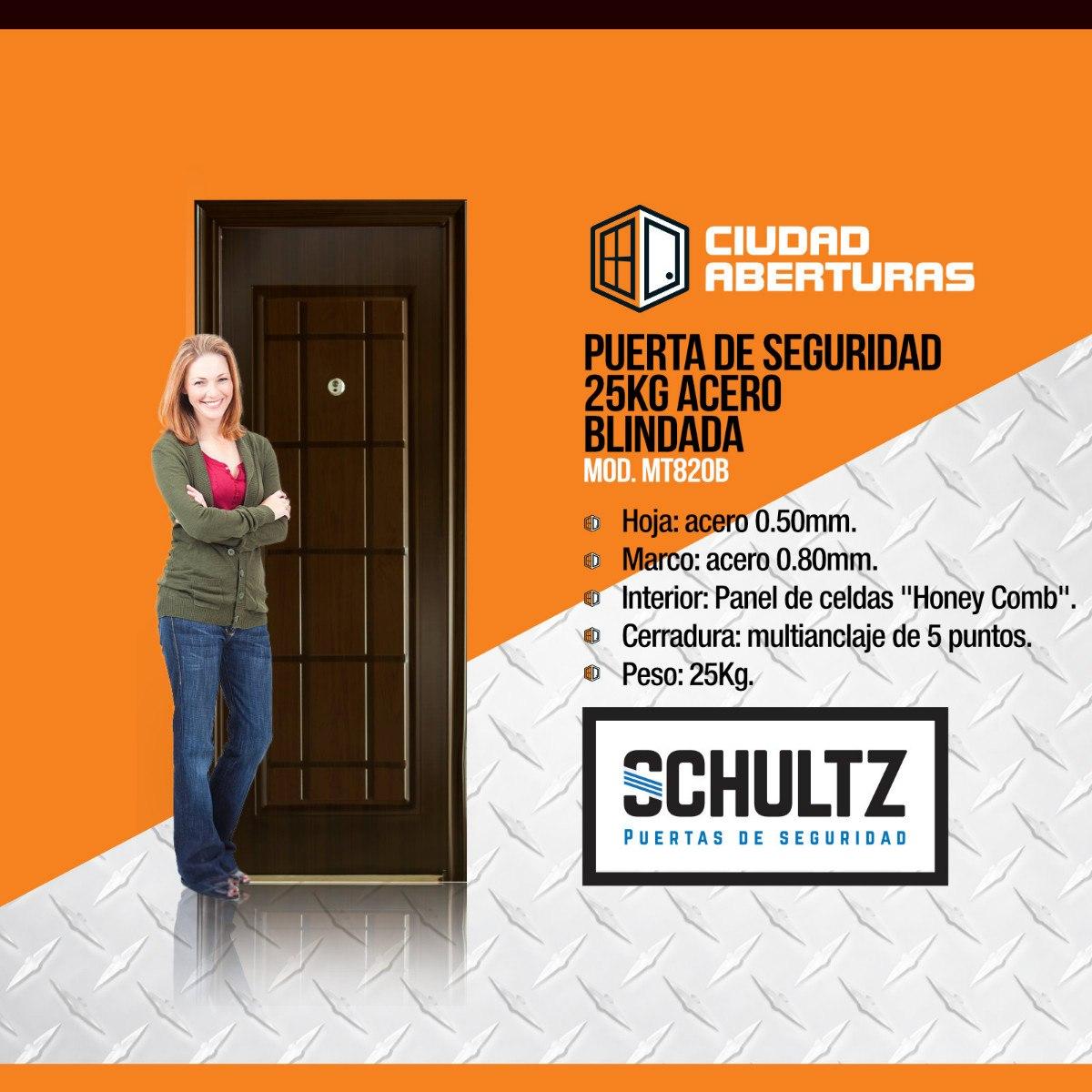 Puerta Exterior Acero Schultz 25kg- Tono Marron- Izq. - U$S 179,00 ...