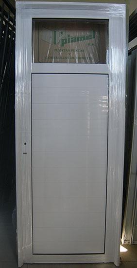Puertas exteriores aluminio puerta entrada aluminio for Puerta acristalada exterior