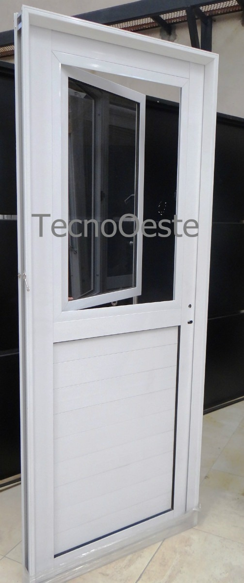 puerta de aluminio con cristal affordable puerta de