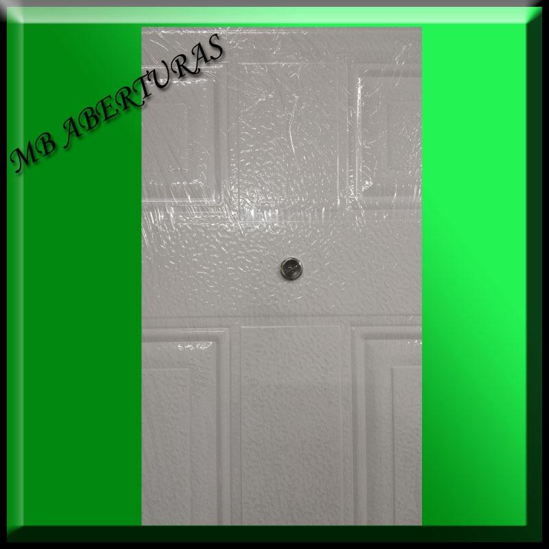 Puerta exterior doble chapa puertas interiores y for Puertas de chapa para exterior