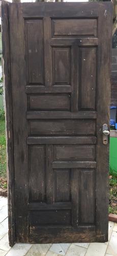 puerta exterior de madera, buen estado. 82.5x204 cm