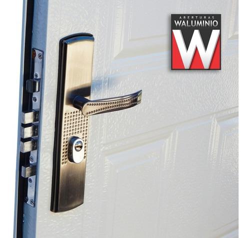 puerta exterior doble chapa blanca ciega economica