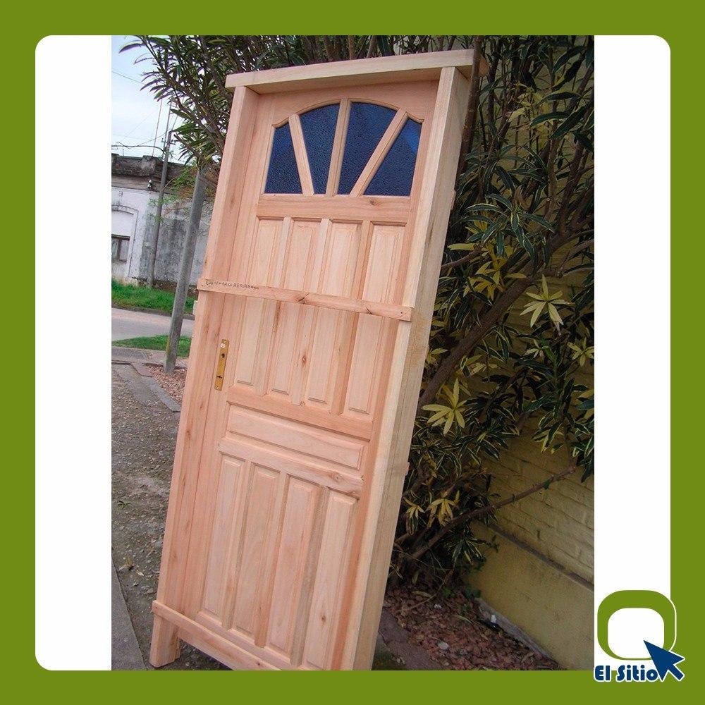Puerta exterior madera 0 81 x 2 08 excelente calidad for Cuanto sale una puerta